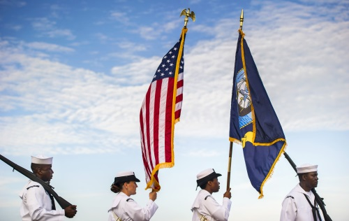 Image of a Navy Color Guard